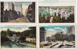 4 X OLD CARD DETROIT - Send To Belgium - Detroit