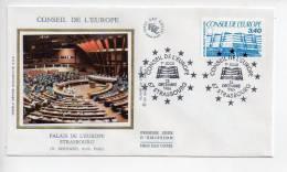 Ref T : Enveloppe Premier 1er Jour FDC First Day Cover :  Conseil De L'Europe Strasbourg - Non Classificati