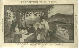 68 CPA Thann Exposition 1923 Publicité Chicorée Arlatte Cambrai (2 Trous Punaise ) Scene Alsacienne - Thann