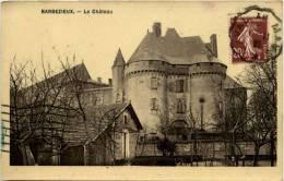 Barbézieux, Le Château, Pub Chocolat Saintoin Orléans Au Dos - Autres Communes