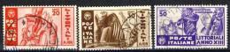 Regno VE3, SS 78 Littoriali Cultura N. 377-379  Usati - 1900-44 Vittorio Emanuele III