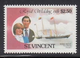 St. Vincent MNH Scott #629 $2.50 Royal Wedding - Charles And Diana - St.Vincent (1979-...)