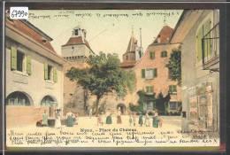 DISTRICT DE NYON /// NYON - PLACE DU CHATEAU - B ( 2 TROUS D'EPINGLE ) - VD Vaud