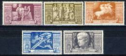 Regno 1937, Posta Aerea SS 1519 Bimillenario Augusto N. A106-A110  MLH Cat. € 160 - 1900-44 Victor Emmanuel III.