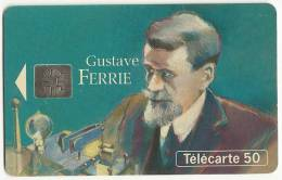 France Telecom  Phonecard Used  Picture  Gustave Ferrie Militaire Et Savant Recherches - Téléphones