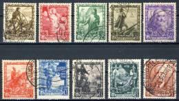 Regno VE3, SS 93 Proclamazione Dell´Impero N. 439-448 Usati - 1900-44 Vittorio Emanuele III