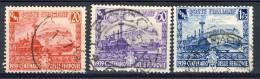 Regno VE3,  SS 95 Centenario Ferrovie N. 449-451 Usati - 1900-44 Vittorio Emanuele III