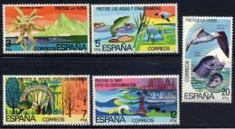 ESPAÑA 1978 - PROTECCION DE LA NATURALEZA - Edifil 2469-73 - Yvert Nº 2114-2118 - 1971-80 Nuevos & Fijasellos