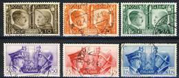 Regno VE3,  SS 96 Fratellanza Italo-tedesca N. 452-457 Usati - 1900-44 Vittorio Emanuele III