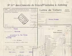 779/20 - Lettre De Voiture Cachet Gare VAULX 1920 Vers ESSCHEN - Entete Ciments De Grand Fontaine à ANTOING - Zonder Classificatie