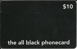Prepaid: The All Black Phonecard - Vereinigte Staaten