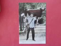 Parcel Post Man Brining Cow In Bradford Vt  Ca 1910 Not Mailed Ref 892 - United States