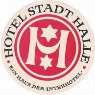 GERMANY HALLE HOTEL STADT HALLE VINTAGE LUGGAGE LABEL