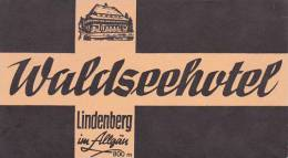 GERMANY LINDENBERG WALDSEEHOTEL VINTAGE LUGGAGE LABEL