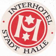 GERMANY HALLE INTERHOTEL VINTAGE LUGGAGE LABEL - Hotel Labels