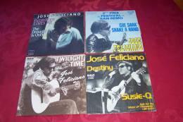 JOSE  FELICIANO   ° COLLECTION DE   4 VINYLES 45 TOURS - Collections Complètes