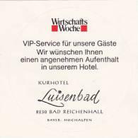 GERMANY BAD REICHENHALL KURHOTEL LUISENBAD VINTAGE LUGGAGE LABEL - Hotel Labels