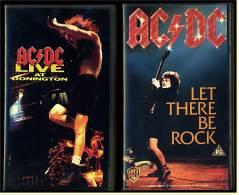 2 X VHS Musikvideo  AC/DC : Let There Be Rock +  Live At Donington   ,  Von 1988 + 1992 - Concert Et Musique