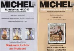 MICHEL Briefmarken Rundschau 4 + 4/2013plus Neu 10€ New Stamp Of The World Catalogue Magacine Of Germany 4 194371 105009 - Deutsch