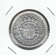 STO. TOMAS Y PRINCIPE - 5 Escudos 1951  KM13  PLATA - Santo Tomé Y Príncipe