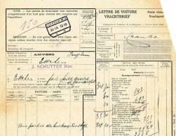 852/27 - Lettre De Voiture Cachet Gare ISEGHEM 1919 Vers ESSCHEN -  5000 Kg De Tourteaux - Zonder Classificatie