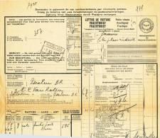782/20 - Lettre De Voiture Cachet Gare AUVELAIS 1928 Vers ESSCHEN - Zonder Classificatie
