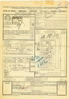 784/20 - Lettre De Voiture Cachet Gare DUFFEL 1934 Vers Gare LE CAMPINAIRE - Cachet Papeteries De Belgique - Zonder Classificatie