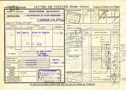 785/20 - Lettre De Voiture Cachet Gare EEKLOO 1939 Vers Gare AISEAU - Cachet Van Overberghe Et Fils - Zonder Classificatie