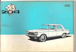 Peugeot  204 Guide D´entretien De 1971 - Auto