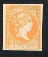 Ed. NE 1S 12 Cuartos 1856 Nuevo Char. FALSO - Nuevos