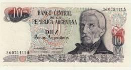 BILLET # ARGENTINE # 1983/84 # 10 PESOS # DIEZ PESOS # GENERAL SAN MARTIN - Argentina