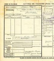 787/20 - Lettre De Voiture Cachet Gare GEEL 1941 Vers Gare AISEAU - Zonder Classificatie