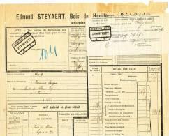 788/20 - Lettre De Voiture Cachet Gare GENCK 1922 Vers GARE PRIVEE Hexagone FARCIENNES-TERGNEE - - Zonder Classificatie