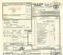 789/20 - Lettre De Voiture Cachet De FORTUNE ROUGE - Gare De COURTRAI KORTRIJK 1919 Vers ESSCHEN - Zonder Classificatie