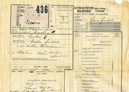 790/20 - Lettre De Voiture Cachet De FORTUNE NOIR - Gare De COURTRAI KORTRIJK 1920 Vers ESSCHEN - Zonder Classificatie