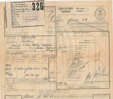 793/20 - Lettre De Voiture Cachet De Gare VILVORDE + Poids Reconnu 1924 Vers ESSCHEN - Zonder Classificatie