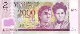 BILLETE DE PARAGUAY DE 2000 GUARANIES DEL AÑO 2008  (BANKNOTE) - Paraguay
