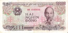 BILLETE DE VIETNAM DE 2000 DONG DEL AÑO 1988  (BANKNOTE) - Vietnam