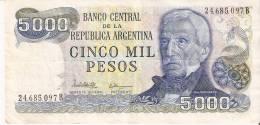 BILLETE DE ARGENTINA DE 5000 PESOS DEL AÑO 1977   (BANKNOTE-BANK NOTE) - Argentina