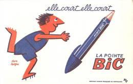 Buvard Réf.001. La Pointe BIC - Savignac - Stationeries (flat Articles)