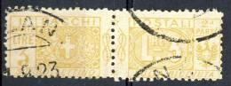 Regno VE3  Pacchi N. 14 Nodo Savoia Lire 3 Giallo Usato - Postal Parcels