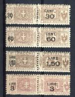 Regno VE3  Pacchi SS 2012 Nodo Savoia Sovrastampati N. 20-23 MNH - Postal Parcels