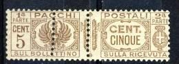 Regno VE3  Pacchi SS 2103 Aquila Sabauda VARIETA' N 14m Doppia Dentellatura MNH - Postal Parcels
