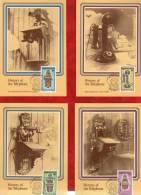 """BOPHUTHATSWANA 1983 : Lot De 4 CM """" HISTOIRE DU TELEPHONE """". Parfait état + Prix Dégressif. - Telecom"""