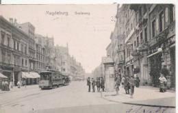 MAGDEBURG   BREITEWEG 1909 (TRAMWAY) - Magdeburg