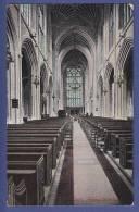 Bath Abbey -interior -- Non Circulee   - (scan Recto-verso) - Bath
