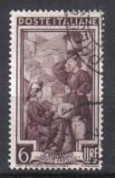 R843 - REPUBBLICA , 6 Lire Lavoro Fil Ruota 1ma Destra Alta Used - 6. 1946-.. Repubblica