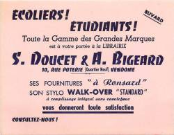 Buvard Réf.011. Librairie S. Doucet & A. Bigeard - Stationeries (flat Articles)