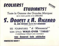 Buvard Réf.012. Librairie S. Doucet & A. Bigeard - Stationeries (flat Articles)