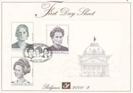 First Day Sheet : F.D.S. Promotion De La Philatélie. La Dynastie Belge. - Postdocumenten